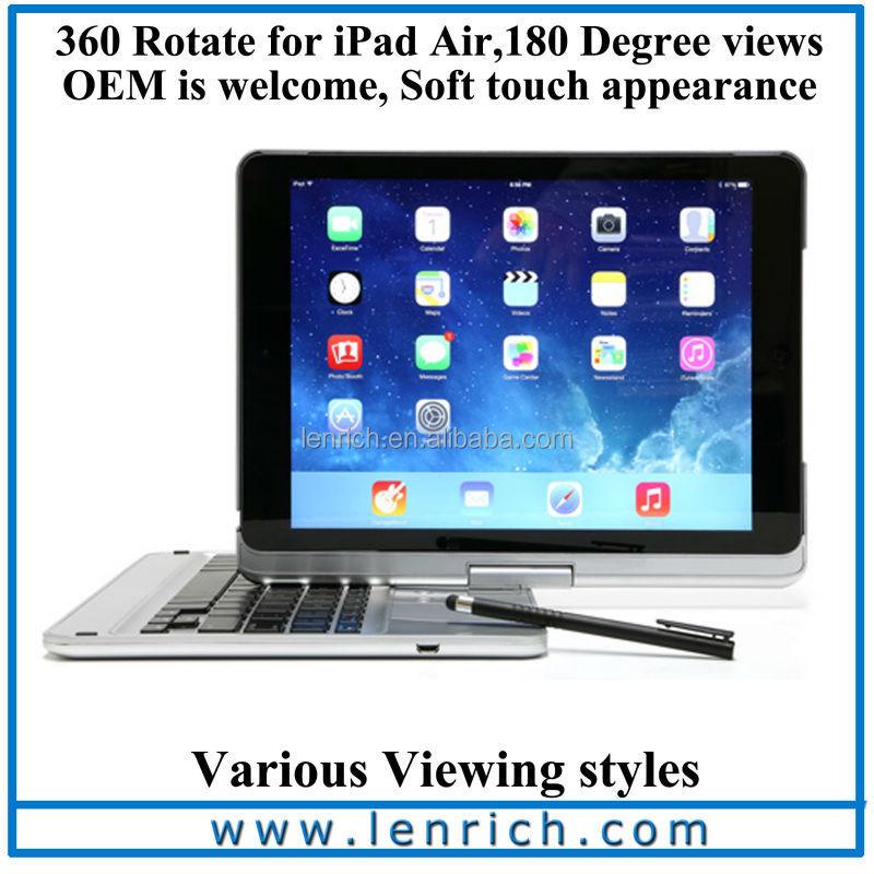 LBK194 For iPad air Rotating Bluetooth Keyboard For iPad air Ultrathin Bluetooth Keyboard