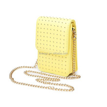 Wholesale Fancy PU Rivet Mini Cross Body Bag Shoulder Bag Cell Phone Sling Bag
