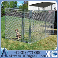 Large outdoor strong hot sale strong hot dipped galvanized dog kennel/pet house/dog cage/run/carrier