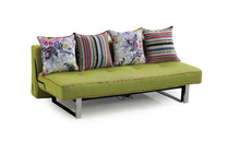 Latest Design Green Fabric Custom Fabric Colorful Sofa Bed WIth Four Pillows