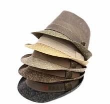 guangzhou wholesaler straw brim mesh jazz fedora hat
