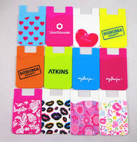 custom ecofriendly silicone mobile phone case card holder wallet