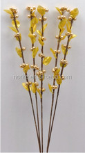 Decorative Yellow Artificial Dried Flowers