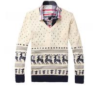 2013 Hitz Slim sweater coat male Korean hit color fawn sweater men pullover sweater X01