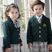 WT603 Winter Unique International School Uniforms for Kindergarten With School Blazer Blouses Skirt / Trousers
