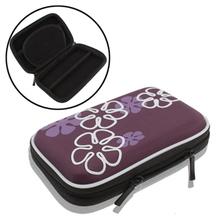 Purple Universal Hard Compact Digital Camera Case Bag