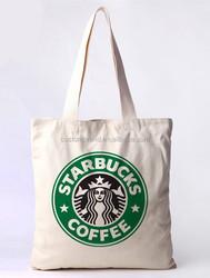 2015 New Custom printed Cotton Canvas tote bag