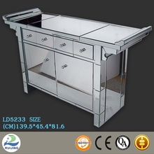 Economic bedroom furniture mirrored cabinet