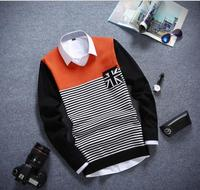 Single Breasted V-neck Men Sweaters Patchwork Men Winter Cardigans And Sweaters 2015