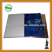 embossing & silver cardboard printed cover hardcover book printing with pvc printing pages