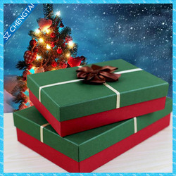 Colorful printed popular style paper packaging box for Christmas