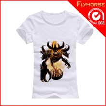China wholesale 100% cotton devil printed t-shirt for advertising