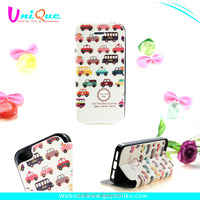 girlly style car printable with card slot and strong stand phone case cover for iphone 5/5s