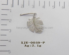 Fashion Design Costume Jewelry, Classical Style Sterling Silver Earring For Party Girl