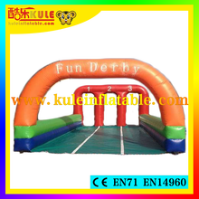 Kule new product inflatable horse racing game inflatable sport game horse racing equipment for sale