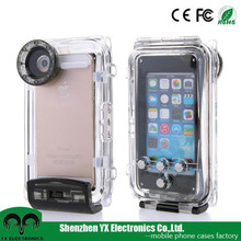 hard plastic waterproof case for iphone underwater case with button