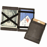 2015 New style leather magic wallet Hot sale leather wallet Factory supplier of magic wallet