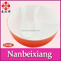500ML Double Color Wall Plastic Soup Bowl With Oil Strainer