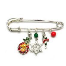 Good quality fashion christmas style pendant brooch pins