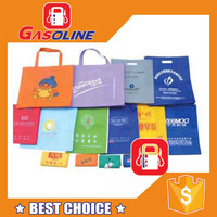Promotional durable gift package bag folding shopping bag with wheels