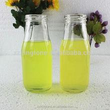 300ml cut glass masn jar with tin cap for juice drinking