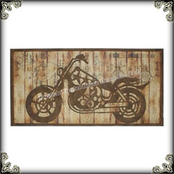 Selling wall plaque old motorcycle