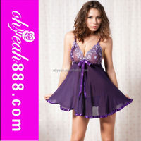 Wholesale hot sales mature nighty babydoll lingerie sleepwear sexy for women