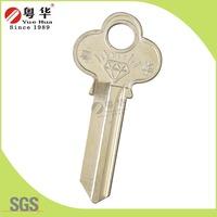 Tope Quality Residentail Blank Key Silver Brass Door Key Blank in Europe Key Lock Blank Market