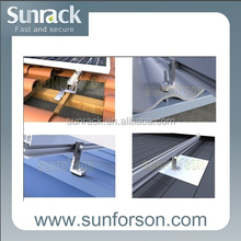 Aluminum PV Solar Mounting Installation for Pitched Roof