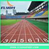 Running track in situ Athletic track in situ Synthetic track in situ
