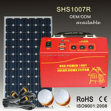 Hot sale portable home lighting solar panel system 10W 20W 30W with solar panel and solar radio