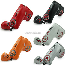 Custom golf head cover for putters, synthetic leather head cover NRC golf series 5 colors for choice