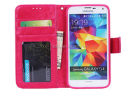 TOP Seller Multifunction leather Wallet case for Samsung S5 With Credit Card Stand,Cover for Sumsuamg S5 case with Photo Slot