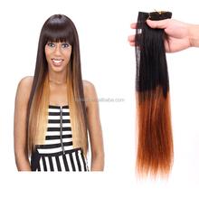 6A grade black hair bun pieces remy straight human hair extension,100% virgin Brazilian hair weft,hair weaving