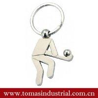 hot selling sport London souvenir key holder with hockey