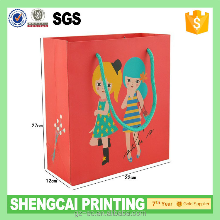 Hot sale CMYK Printing Custom made shopping Bag in different size