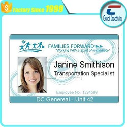 Family Forward customized TK4100 EM4001 125khz ID card/personalized ID card