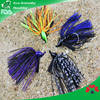 fishing jig heads with silicone skirt spinner fishing lure