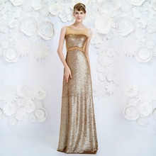 New style wholesale siduo 80139 golden new squined evening dress floor length evening dress