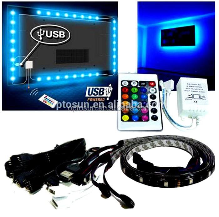 Smart home r tro clairage pour tv usb rgb led bande - Kit de retroeclairage led pour tv ...