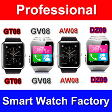 GT08 Smart Watch 1.54 inch HD TFT Bluetooth Phone watch Wristwatches with NFC Cell Phone Watch Phone