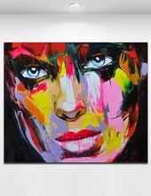 Palette knife painting abstract portrait 100% handmade oil painting on canvas