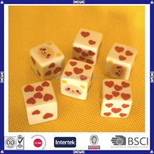 new design promotion plastic customized dice