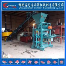 Hydraulic small scale industries indian clay brick machine