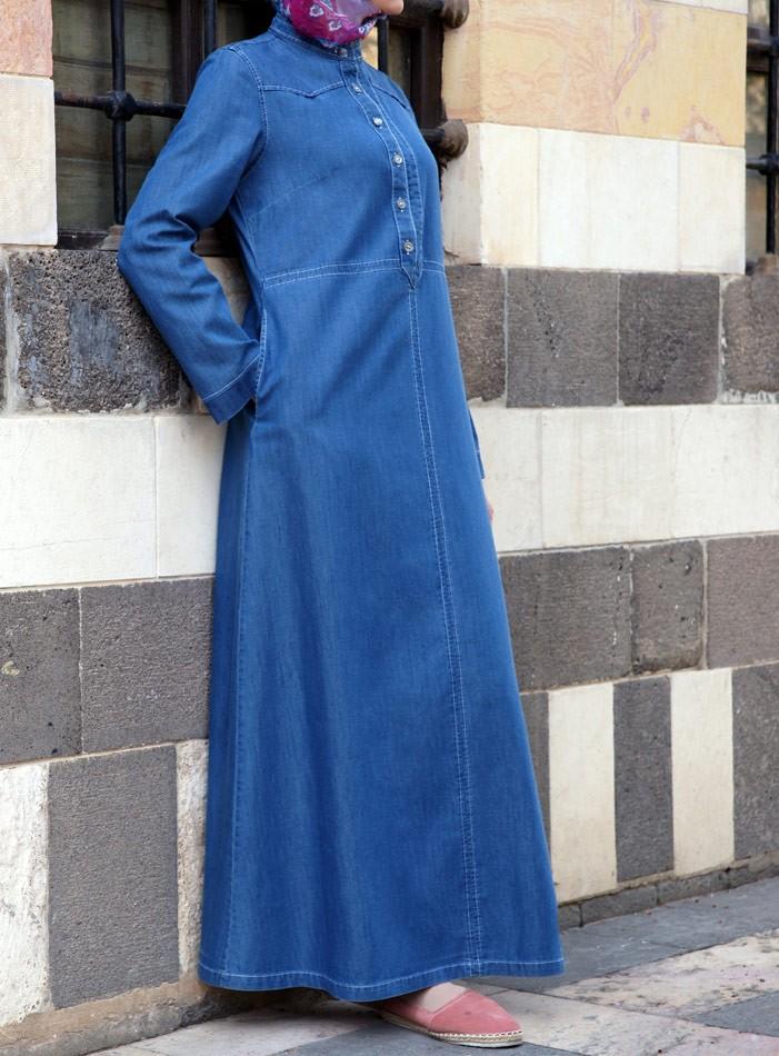 Джинсовые платья для мусульманок