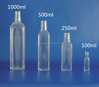 Wholesale 500ml clear marasca olive oil bulk containers
