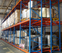 Warehouse Gravity Push-back Pallet Racking,metal shelving,High Utilization