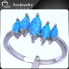 Latest Women's 925 Sterling Silver Batu Permata Blue Safir 0086 Ring