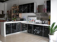 Low price kitchen cabinet self adhesive