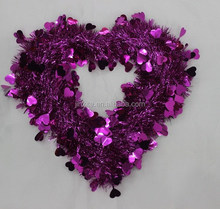 Charming Arfificial Heart Shape Flower Wreath For Valentine Love Garland Wreath